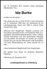 Traueranzeigen von Ida Burke | nordwest-trauer.de