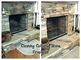 cleaning stone fireplace hearth
