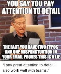 facts meme you say you pay attention to detail the fact you  facts work and advice animals you say you pay attention to detail the