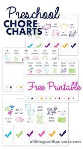 Printable Free Printable Chore Chart For Kids 10 Free Printable Chore Charts For Kids