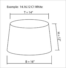 How to measure lamp shade Size For Square Rectangle And Oval Shades Both Length And Depth Measurements Will Need To Be Provided Instead Of Diameters Mayfield Lamps Lampshades