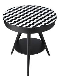 black and white zig zag table
