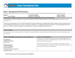 sample career plan free 11 career development plans pdf