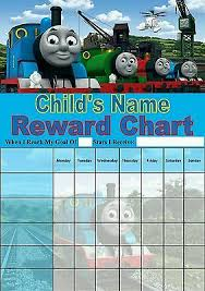 Personalised Thomas The Tank Reward Chart Potty Training
