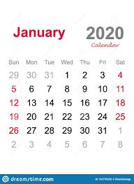 Monthly 2020 Calendar Templates January 2020 Calendar Monthly Calendar Template 2020