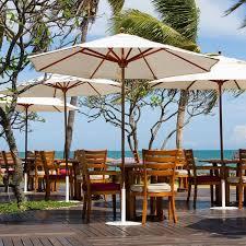 poolside umbrellas galtech 9 ft designer teak sunbrella patio umbrella 532tk 50