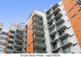 modern residential building. Simple Building Modern Residential Apartment Building  Csp2118018 Throughout Residential Building