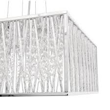 home decorators collection 4 light chrome and crystal square shape pendant