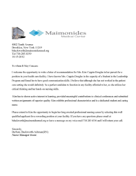 Referral Letter Example Letters Free Sample Letters