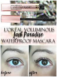 l oréal voluminous lash paradise mascara swatches review