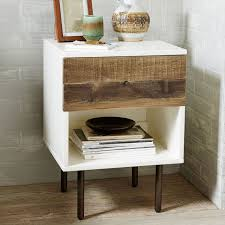 Reclaimed Wood + Lacquer Nightstand | west elm
