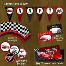 Printable Cars Centerpieces Cars Birthday Party Decorations Cars