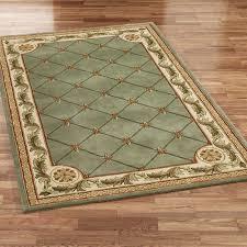 jewel fleur de lis rectangle rug