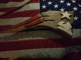 custom made wood new england patriot logo art