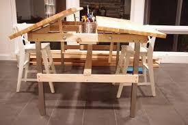 multi kid drafting table ikea hackers