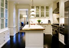 white kitchen dark wood floor. White Kitchen Cabinets With Dark Wood Floors- Cottage Floor E
