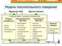 Курсовая работа Поведение потребителеи  Курсовая работа потребитель в систему