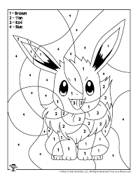 Color them in online, or print them out and use crayons, markers, and paints. Eevee Pokemon Coloring Page Woo Jr Kids Activities