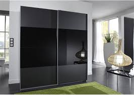 black glass sliding wardrobe lacquer high gloss painting wooden bedroom furniture 2 3 meters height