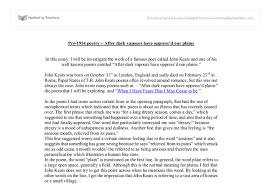 jonh keats gcse english marked by teachers com document image preview