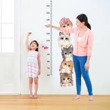Cat Height Chart Sk7178 Cat Growth Chart Height China Window Sticker
