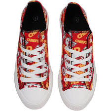 Kansas Sneakers Chiefs Women's Low Print Top City Repeat