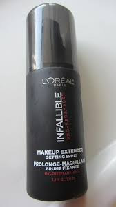 l oreal infallible makeup extender setting spray