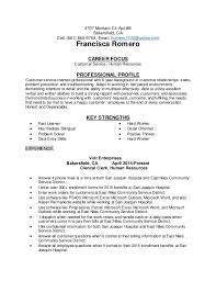 career focus resume. francisca romero resume .