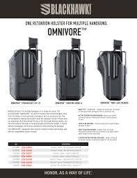 Blackhawk Omnivore Non Light Bearing Holster Blackhawk 4190radb Omnivore Rail Attachment Black Polymer