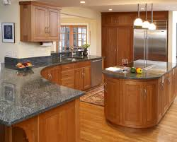 Natural Cherry Cabinets Dark Grey Countertops With Natural Oak Cabinets Google Search