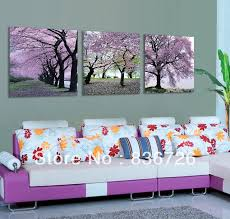 free shipping 3 piece canvas wall art flower wall canvas paintings purple flowers modern office wall on canvas wall art purple flowers with free shipping 3 piece canvas wall art flower wall canvas paintings