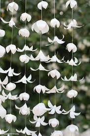White Paper Flower Garland White Vellum Paper Flower Garland Flower Decors Pinterest
