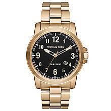 men s michael kors watches ernest jones michael kors men s gold tone bracelet watch product number 6171974