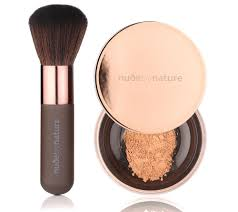 NUDE BY NATURE Radiant Loose Puder Foundation mit Pinsel 10g.