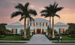 classical contemporary custom home florida