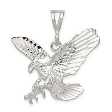 ice carats designer jewelry gift usa 925 sterling silver eagle pendant charm necklace bird man gift for dad mens for him com