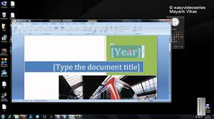 Cool Title Pages How To Create Cool Cover Pages In Three Keystrokes In Microsoft Office 2007 Step By Step Tutorial