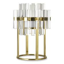 phoebe crystal table lamp antique brass