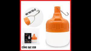 Bóng đèn Led sạc tích điện 100w có móc treo thông minh - YouTube