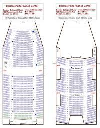 Seating Chart Berklee Performance Center Seating Plan Berklee Performance Center