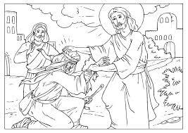 Kleurplaat Man Bethesda Jesus Heals The Man At The Pool Of Bethesda