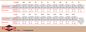 Propper Size Chart Propper Bdu Size Chart Bedowntowndaytona Com