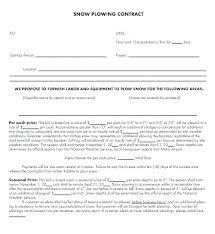 Snow Removal Quote Template