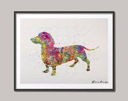 Dachshund Home Decor Online Get Cheap Dachshund Art Print Aliexpresscom Alibaba Group