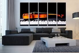 Music Living Room 5 Piece Large Pictures Violin Group Canvas Piano Canvas