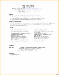 Objective In Resume For Software Engineer Fresher Resume Software Engineer Template Make My Creative Objective In 89