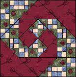 168 best Quilts - Churn Dash/Monkey Wrench/Snail Trail/Shoo Fly ... & Monkey Wrench Quilt Block - 12