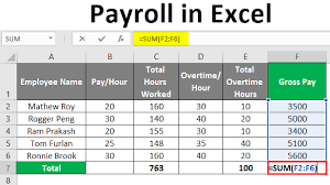 Excel Overtime Formula Payroll In Excel How To Create Payroll In Excel With Steps