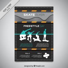Modern Skate Flyer With Silhouettes Of Skater Stock Images Page