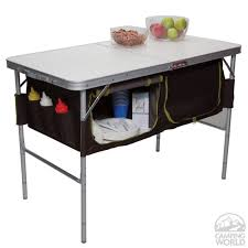 fabulous folding table with storage with folding camp table with storage bins westfield outdoor inc ta